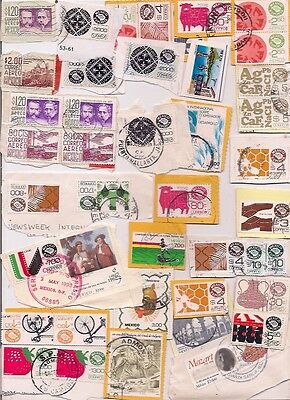 43 MEXICO stamps on paper.