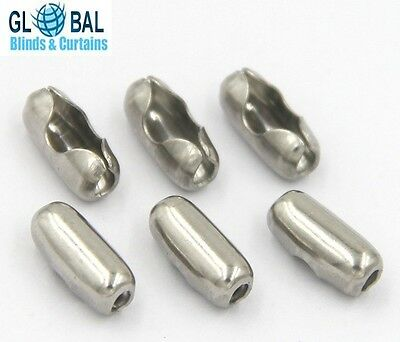 10 x Roller and vertical blind chain joiner/connector (sliver metal)