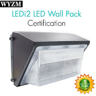 70W 100W 125W LED Wall Pack Fixture, HPS/HID Replace Outdoor Industrial Lighting