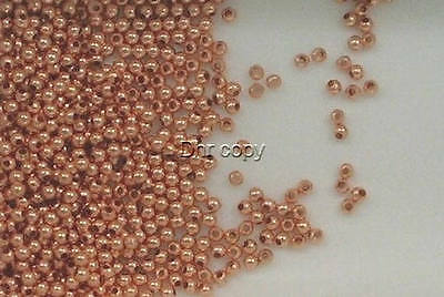 Solid Copper 2mm Round Spacer Beads, Choice of Lot Size & Price