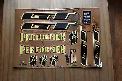 Reproduction 1995 GT Performer BMX Decal Set - Chrome Backing