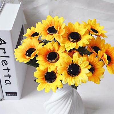 Fashion Home Wedding Garden Decor Artificial Fake Silk Sun Flower Hydrangea