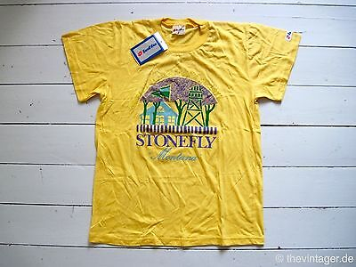 NOS 90er 90s LOTTO Trash T-Shirt S True Vintage Stonefly Montana Weekday Asos UO