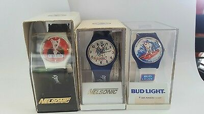 3 Spuds Mackenzie Budweiser Bud light watches