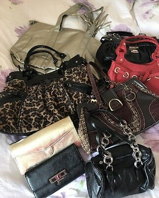 Job Lot 6 Handbags And 2 Purses Guess And Others