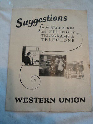 Western Union Telegraph Company Instructional Booklet........