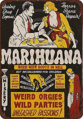 1936 Reefer Madness Movie reproduction metal tin sign 8 x 12