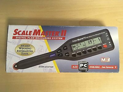SCALE MASTER II  v3.0  #6130 DIGITAL PLAN MEASURE W/CASE (barely used)