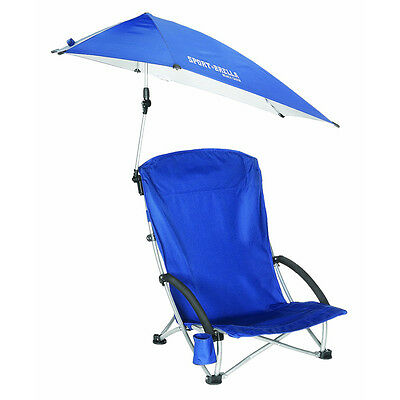 Sport-Brella Portable Umbrella Beach Camping Chair - Blue