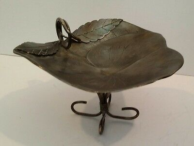 Victorian Silverplate Calling Card Holder  Receiving Tray Rare Antique C.1875