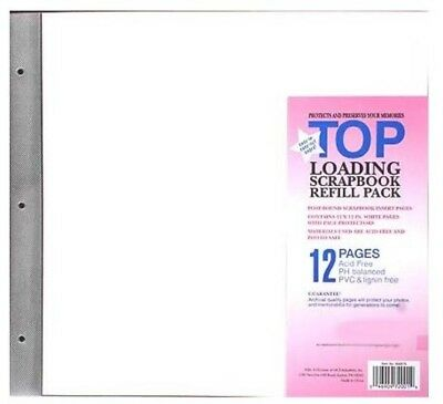 12x12 MBI Refills Post Bound Albums (6 Pack) includes Acid Free Paper & Extensio
