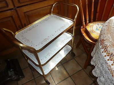 Vintage Retro Eternal Beau Serving Trolley Dinner Tray Dining Hostess Bar Cart