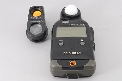 【NEAR MINT】 Minolta Flash Meter V w/ View Finder from Japan #453