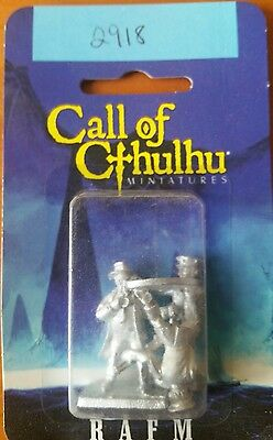 Call Of Cthulhu Miniatures RAFM Police X 3 boxed