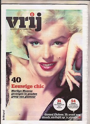 Marilyn Monroe:rare Holland Magazine Magazine Unique Cover -2016-Collectors!!