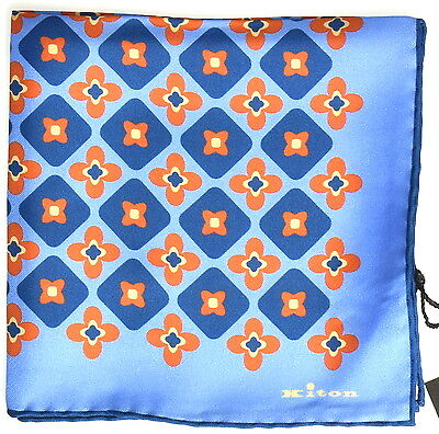 NEW 2017 KITON POCKET SQUARE 100%SILK 12x12 BEST OF THE BEST+1 KPS201