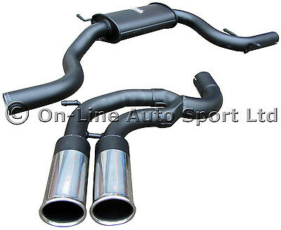 "VW Golf GTi Mk5 2.0T Sportex 2.5"" Performance Exhaust System - Twin 3"" Tailpipes"