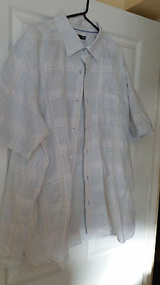Mens short sleeved shirt by F&F size XXL .Pale blue check