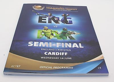 ICC CHAMPIONS TROPHY 2017 SEMI-FINAL CRICKET Ticket, Scorecard & Programme VGC