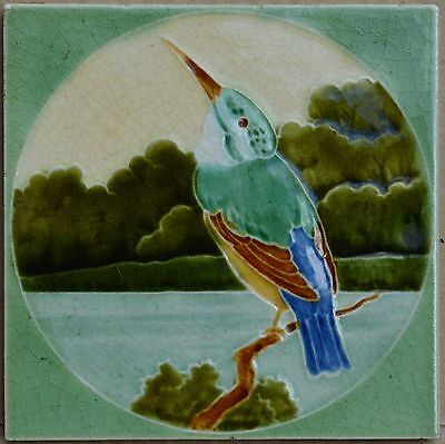 Antique Boote ( 11 Colors ) - Art Nouveau Majolica Tile C1900