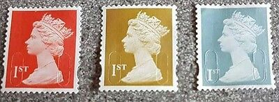 100 x 1st Class Unfranked Postage Stamps Off Paper Excellent Quality