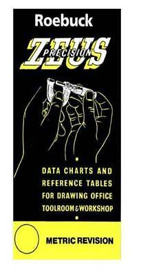 Zeus Precision Engineers Metric Data Book Chart Charts Reference Sizes Tables