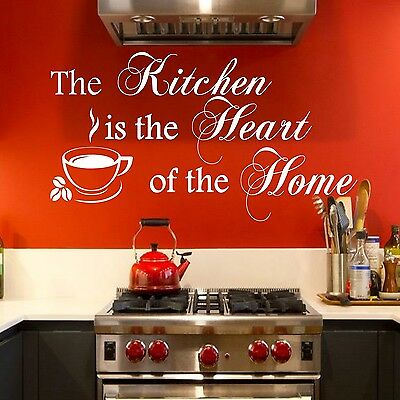 Wall Stickers Quotes The Kitchen is the Heart of the Home Wall Art Decal Svil55