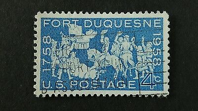 USA Fort Duquesne 1958 stamp used  4c