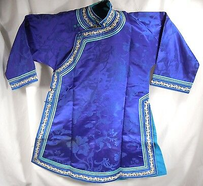 Chinese Blue Silk Embroidered Robe               47885