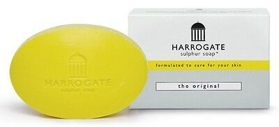 Harrogate Original Sulphur Soap *Yellow* 1 x 100g *Made In West Yorkshire UK*