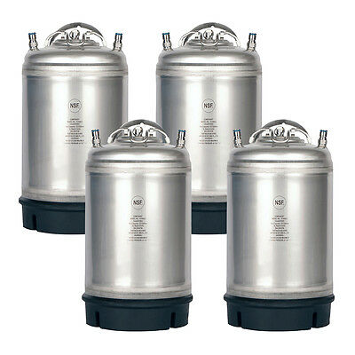 4 Pk New 3 Gallon Ball Lock Kegs - Homebrewed Beer - Cold Brew - Free Shipping!