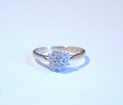 Vintage 9Ct Gold And Diamond Ladies Ring - Fully Hallmarked Size O 1/2