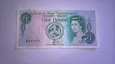 isle of man one pound banknote