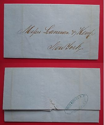 COLOMBIA to USA letter cover 1866 CARTHAGENA NEW YORK US ALBERT MATHIEU