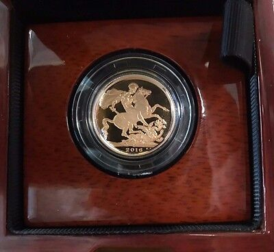 2016 Gold Proof Sovereign - Original Royal Mint Box and Certificate