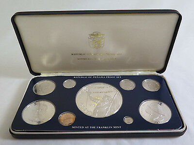 1978 Republic of Panama 9 Coin Silver Proof Set