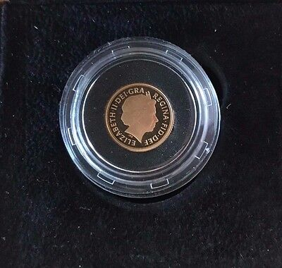 2013 Proof Gold Quarter Sovereign With Certificate Low C.o.a. 0342