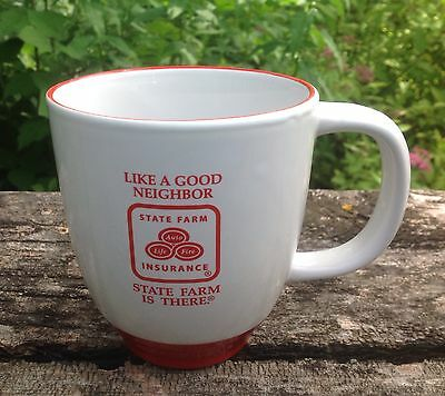 State Farm Insurance Like A Good Neighbor 12 Oz Coffee Mug Red And White
