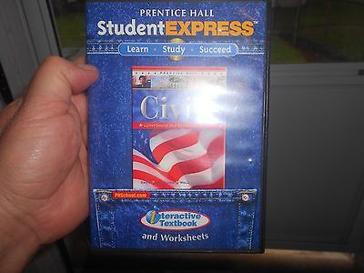 Pearson Prentice Hall CD ROMs Civics Student Express CD-ROM TWO CD excellent