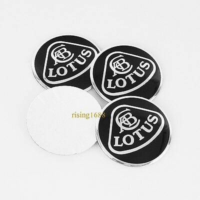 4pcs 56mm Car Wheel Center Hub Caps Trim Stickers Emblem Styling For LOTUS Black