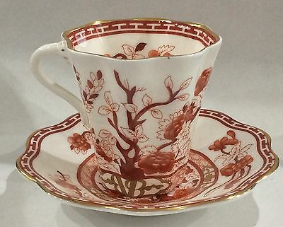 Coalport Indian Tree Coral Demitasse Cup & Saucer
