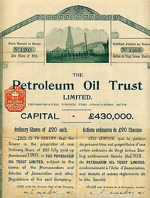 Pologne / Poland / The Petroleum Oil Trust Limited 1894