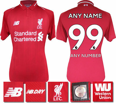 66bd9c70c92 PERSONALISED - 18   19 New Balance Liverpool Home Shirt Ss   Adults ...