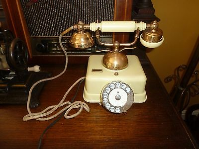 Rare Vintage Danish Bakelite Telephone Phone Princess Style Large Heavy Repair