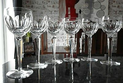 Waterford Crystal six Sheila Wine/wine hock  Glass Signed. 800