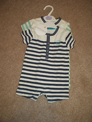 Baby Boy Playsuit/romper X 2. 3/6 Months. Marks & Spencer. Bnwt