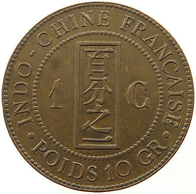 Indochina 1 Cent 1888 Top  #t20 339