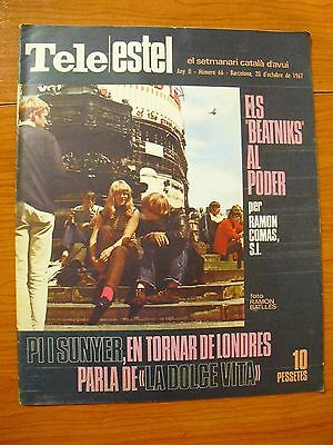 "Beatniks:rare Spanish Magazine""tele Estel""(Catalonian Newspaper) Vintage 1967"