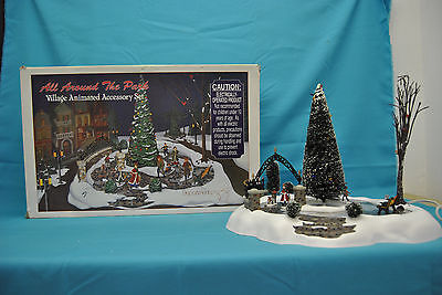 """Dept 56 """"All Around The Park"""" Village Animated Accessory Set ~ In Box #5247-7"""