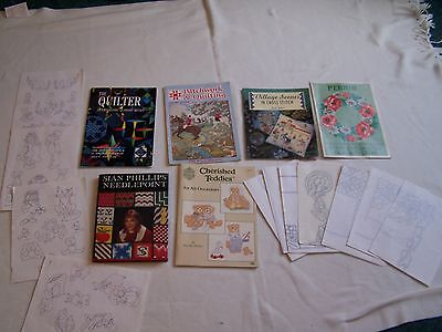 Craft, Bundle, Books, Projects, Crosstitch, Needlepoint, Quilting, Patterns,